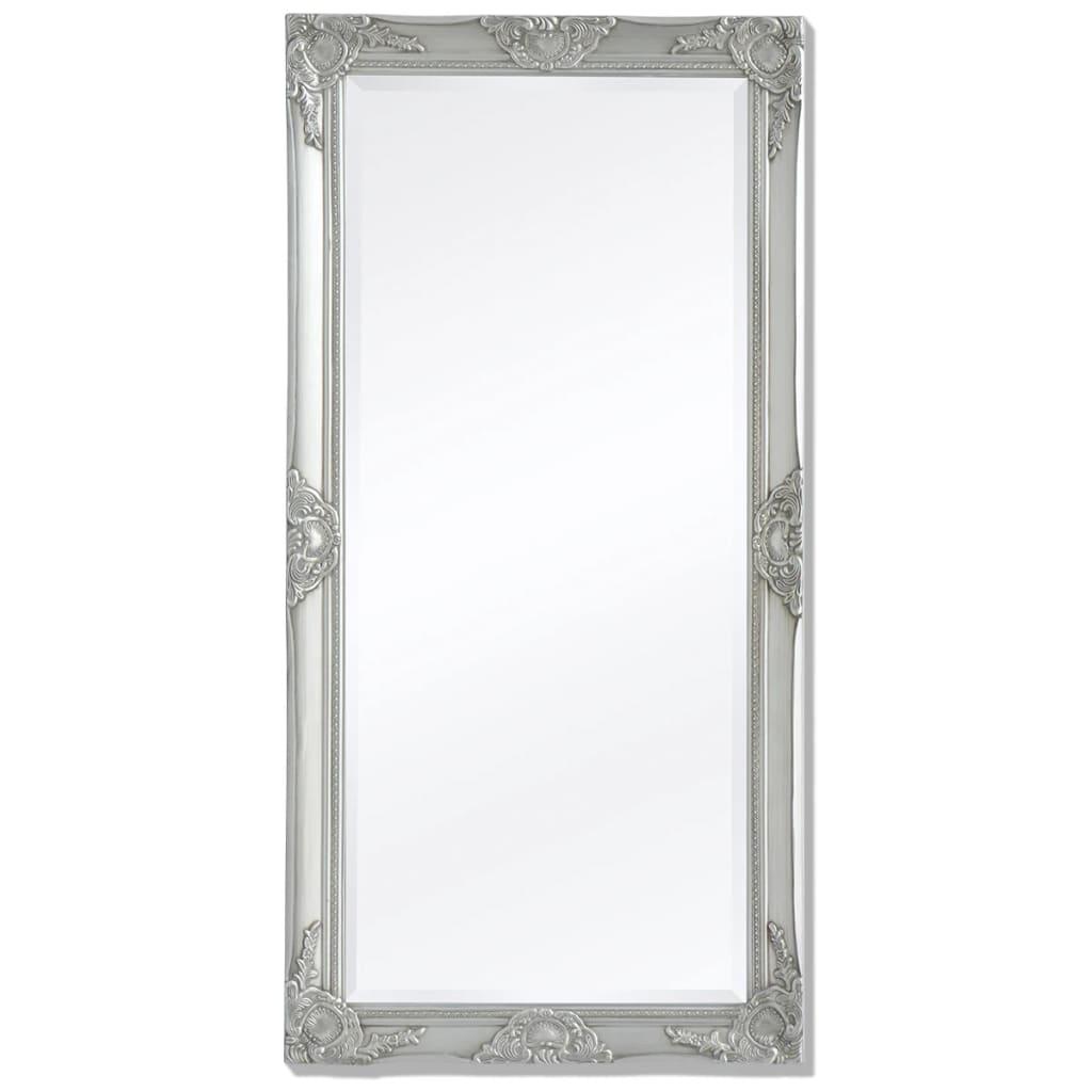 vidaXL Barokk stílusú fali tükör 120x60 cm ezüst