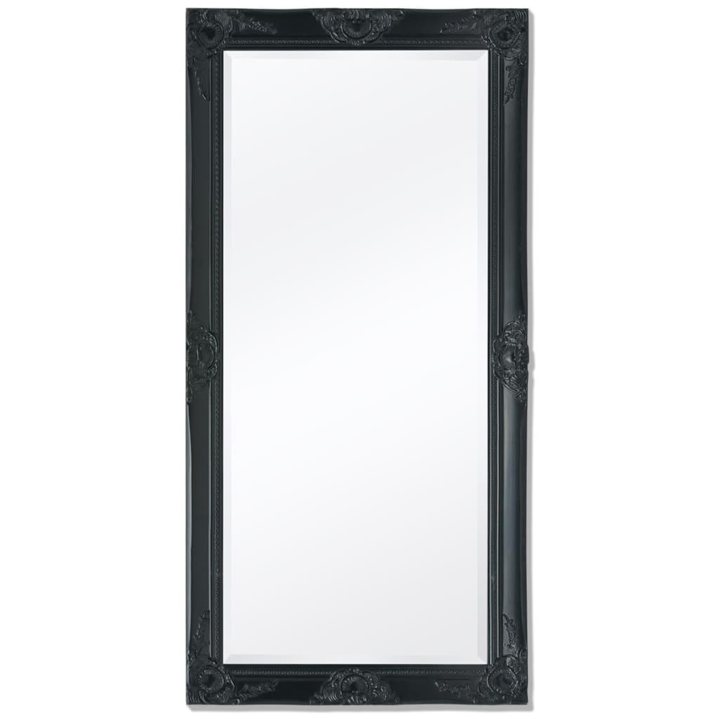 vidaXL Barokk stílusú fali tükör 120x60 cm fekete
