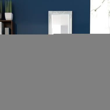 Vidaxl espejo de pared estilo barroco 140x50 cm blanco - Espejos estilo barroco ...