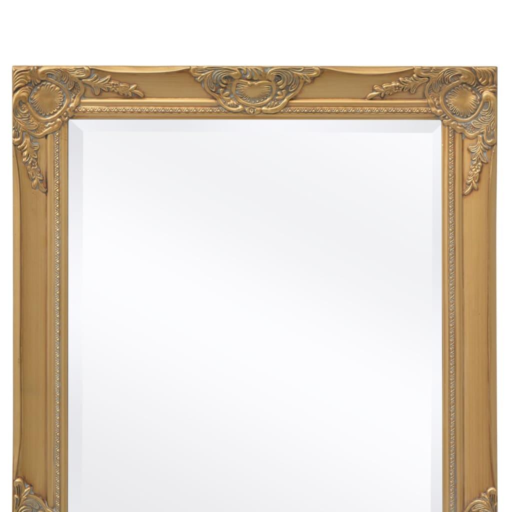 Acheter vidaxl miroir mural style baroque 140 x 50 cm dor pas cher for Miroir mural baroque
