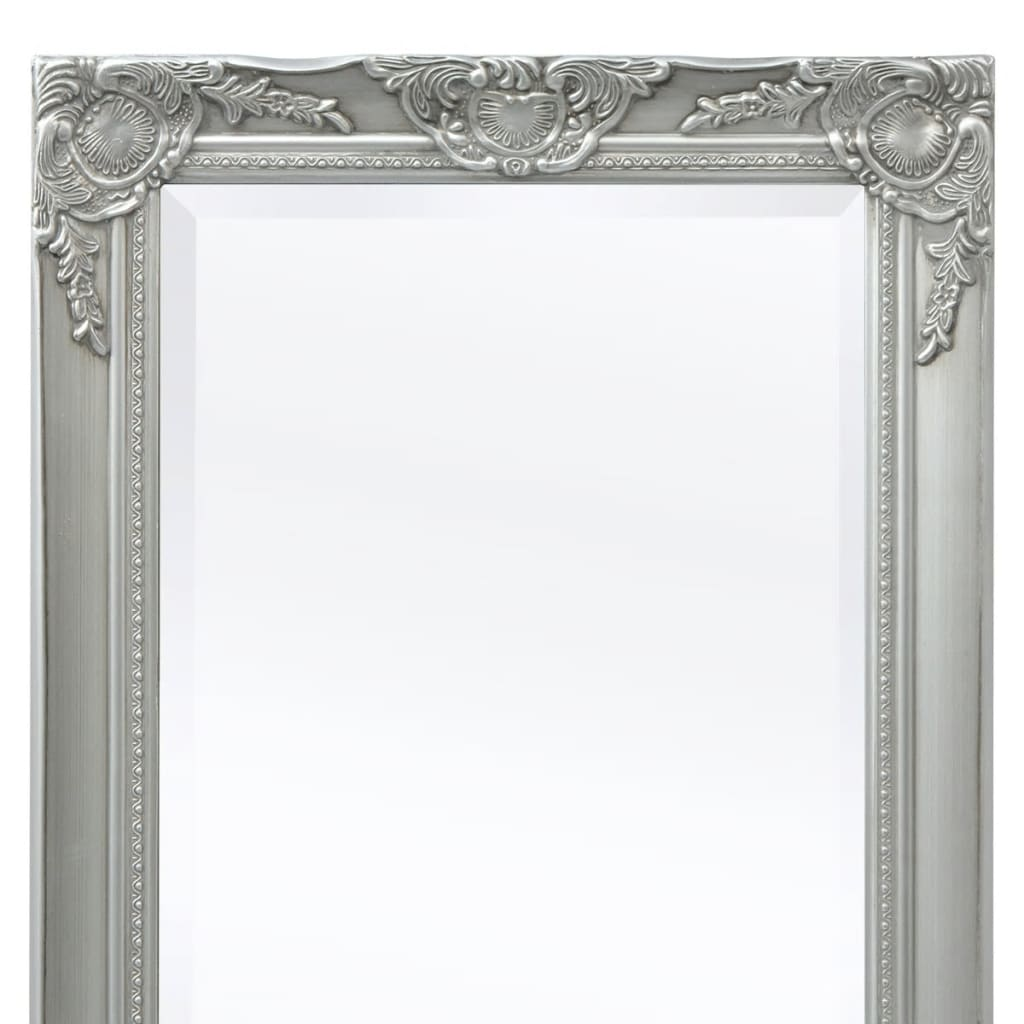 Vidaxl espejo de pared estilo barroco 140x50 cm plateado - Espejos estilo barroco ...