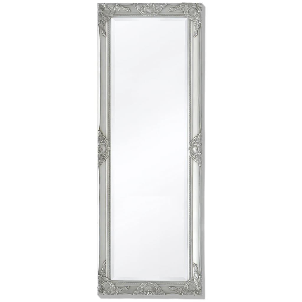 vidaXL 140x50 cm ezüst barokk stílusú fali tükör