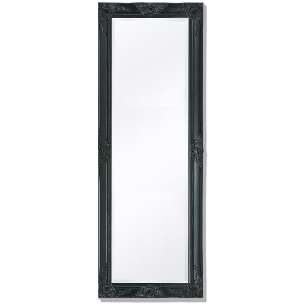 vidaXL 140x50 cm fekete barokk stílusú fali tükör