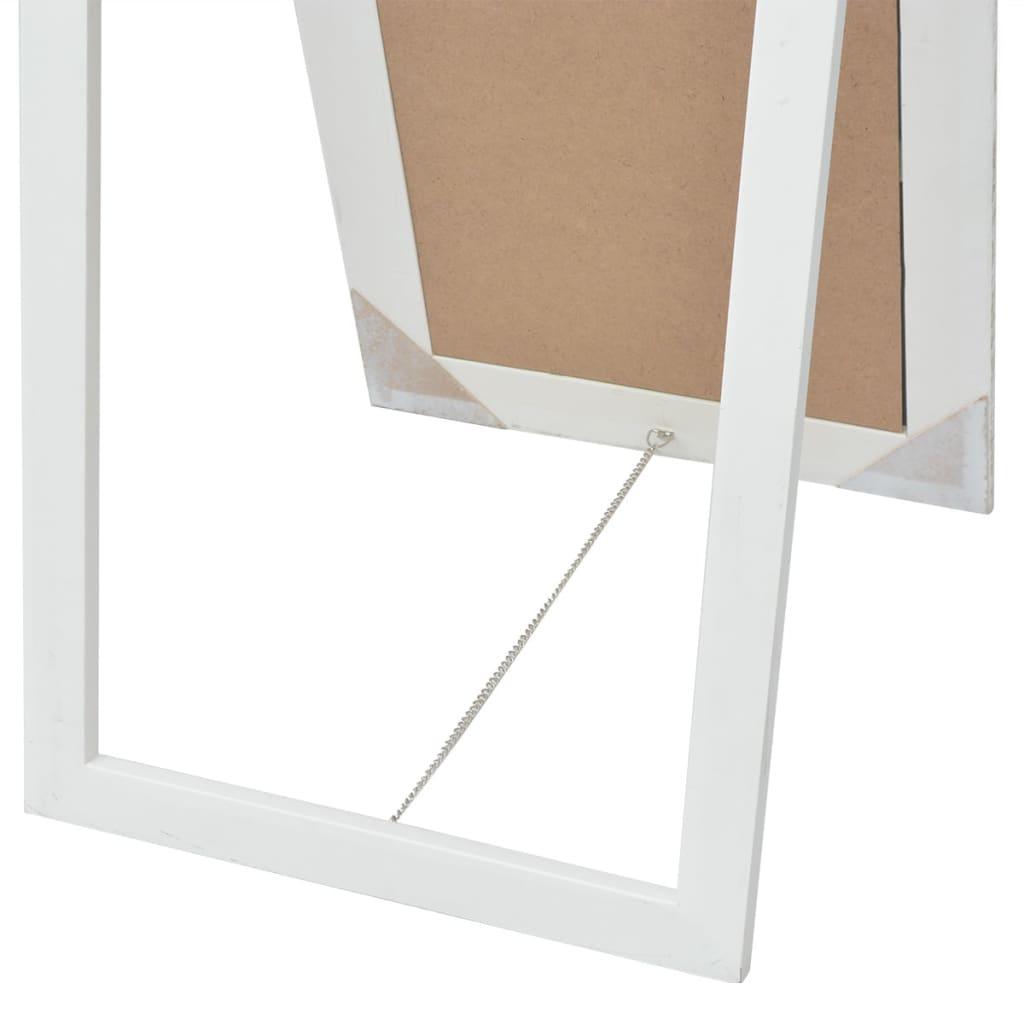 vidaxl free standing mirror baroque style 160x40 cm white