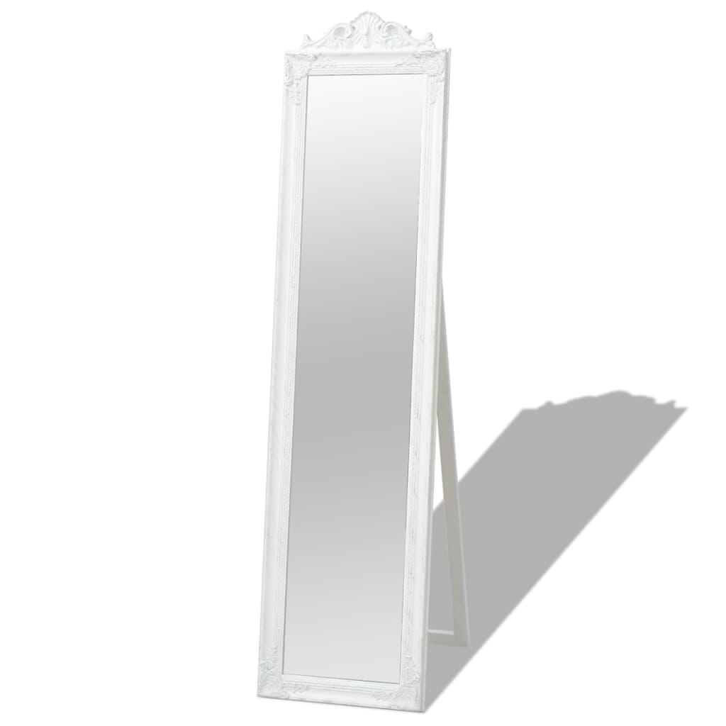 vidaXL 160x40 cm Fehér Barokk stílusú szabadon álló tükör