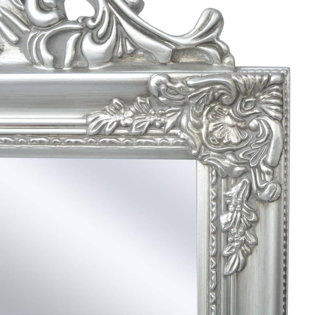 Vidaxl espejo de pie estilo barroco 160 x 40 cm plateado - Espejos estilo barroco ...