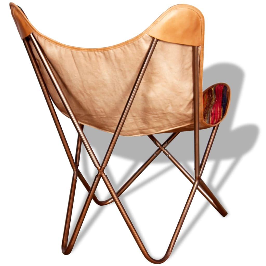 Acheter vidaxl chaise papillon tissu chindi multicolore for Acheter chaise pas cher