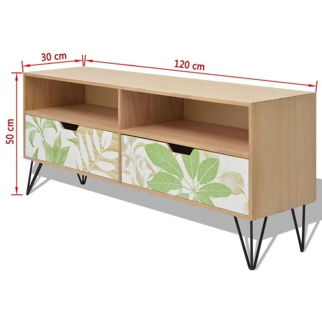 vidaxl tv schrank mdf 120 x 30 x 50 cm braun im vidaxl. Black Bedroom Furniture Sets. Home Design Ideas