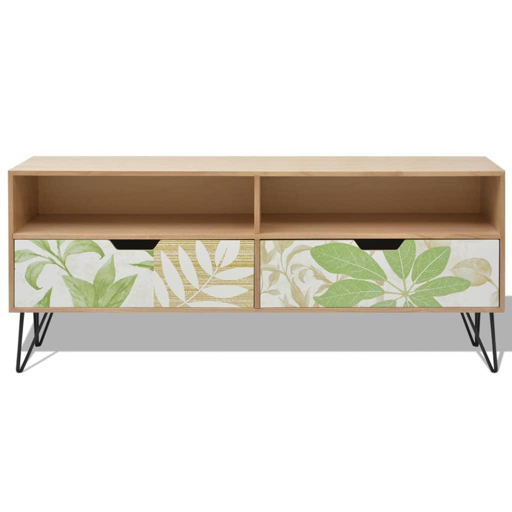 shop vidaxl tv kabinet mdf 120 x 30 x 50 cm brun vidaxl. Black Bedroom Furniture Sets. Home Design Ideas
