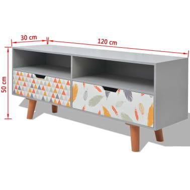 vidaxl meuble tv mdf 120 x 30 x 50 cm gris. Black Bedroom Furniture Sets. Home Design Ideas