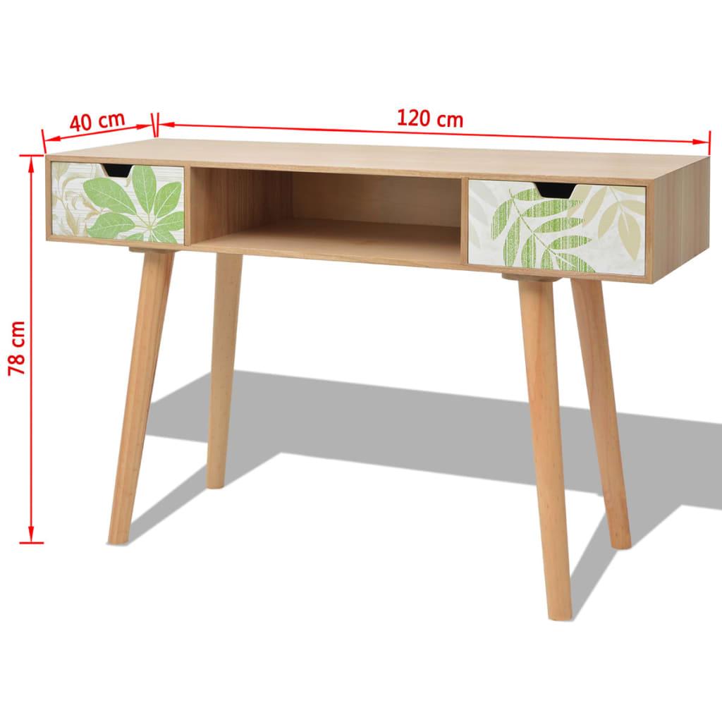 acheter vidaxl table console mdf 120 x 40 x 78 cm marron pas cher. Black Bedroom Furniture Sets. Home Design Ideas