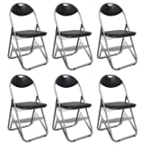 vidaXL Foldable Chairs 6 pcs Artificial Leather