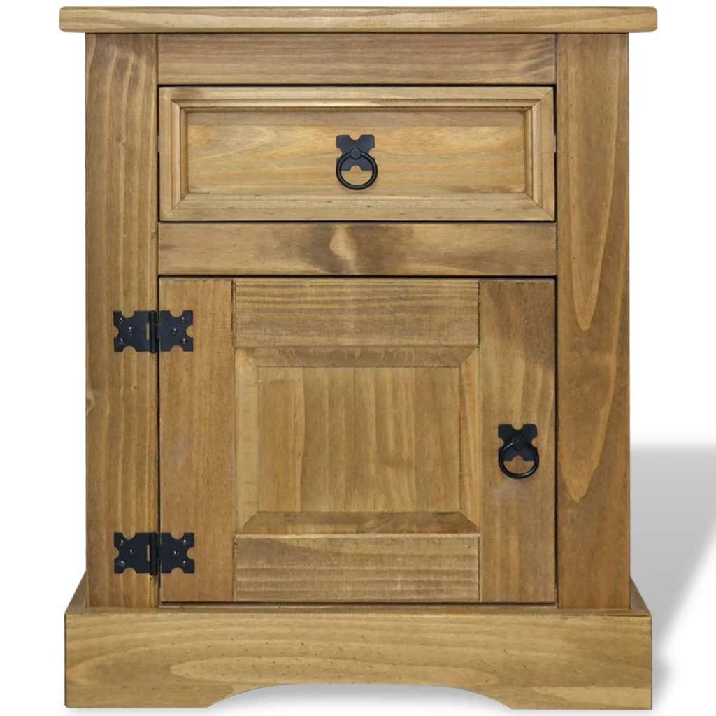 Vidaxl Bedside Cabinet Mexican Pine Corona Range 53x39x67