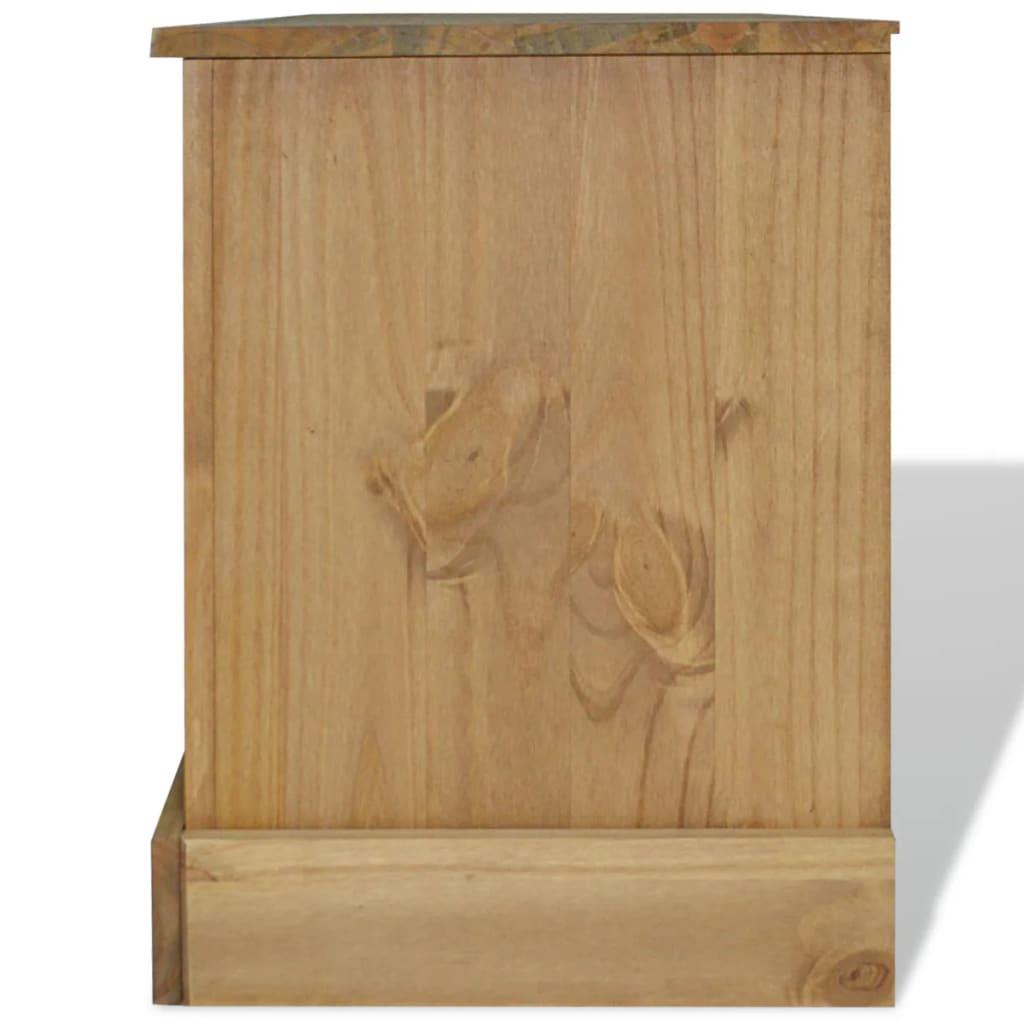 Acheter vidaxl meuble tv pin mexicain gamme corona 120 x for Meuble tv 120 cm pas cher