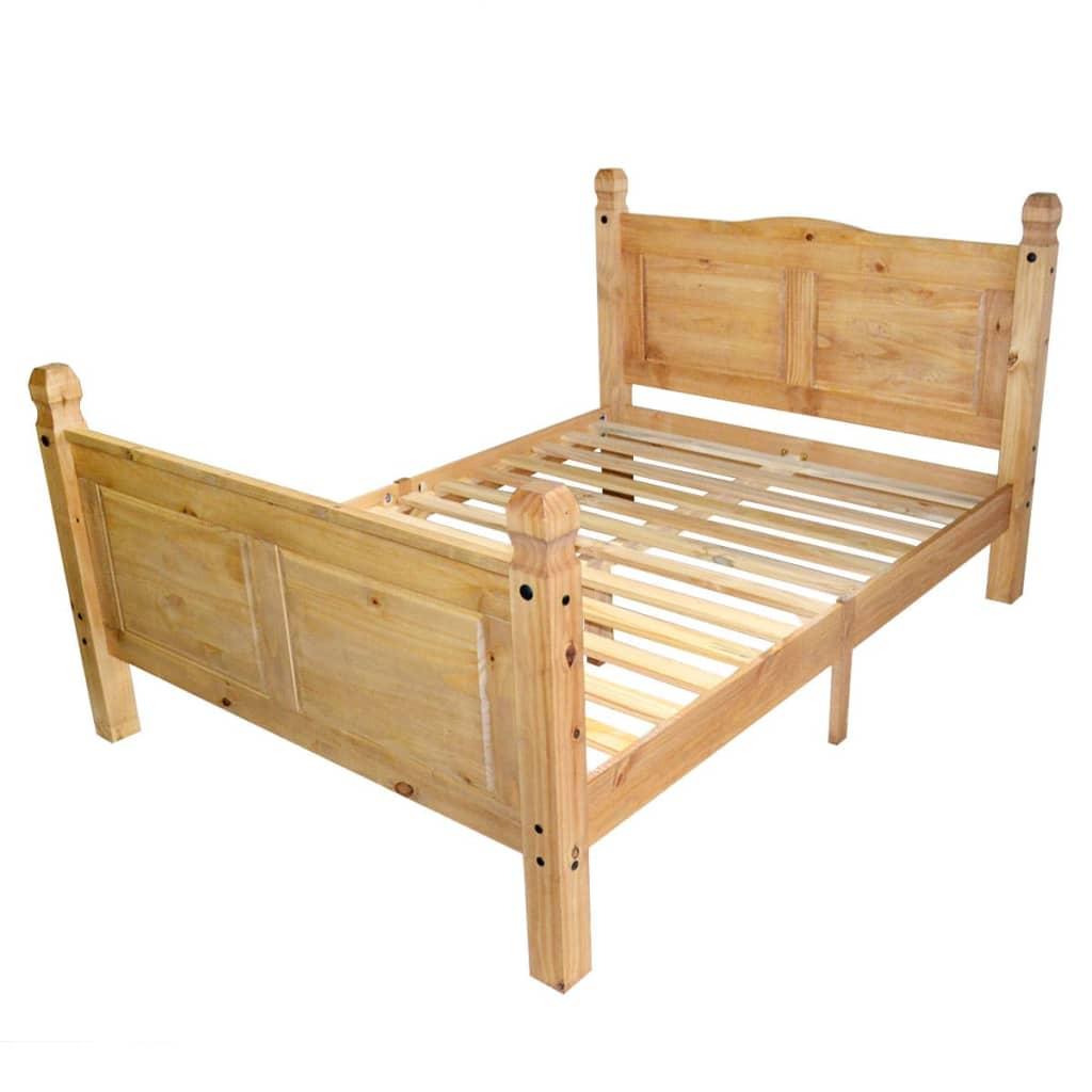 vidaXL Rama łóżka w meksykańskim stylu Corona, 160 x 200 cm, sosnowa