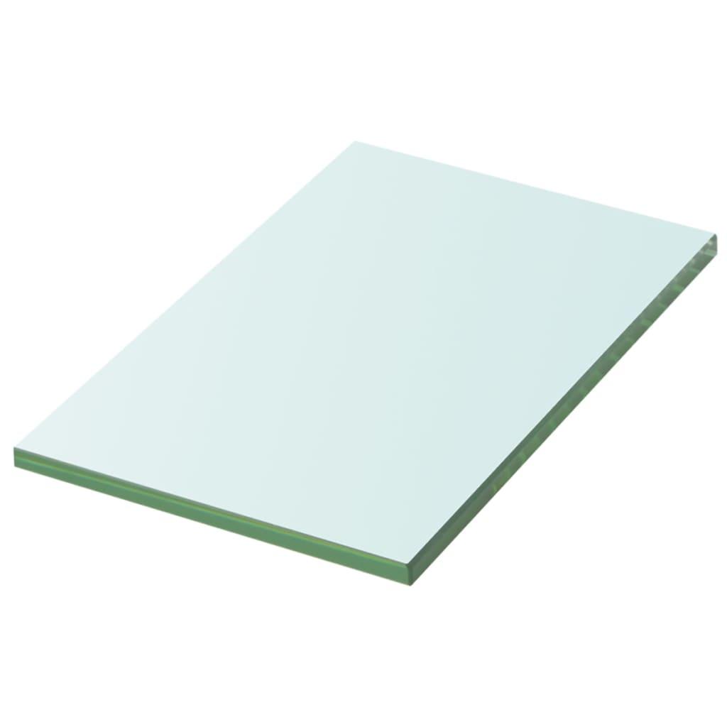 vidaXL Átlátszó üvegpolc 20x12 cm