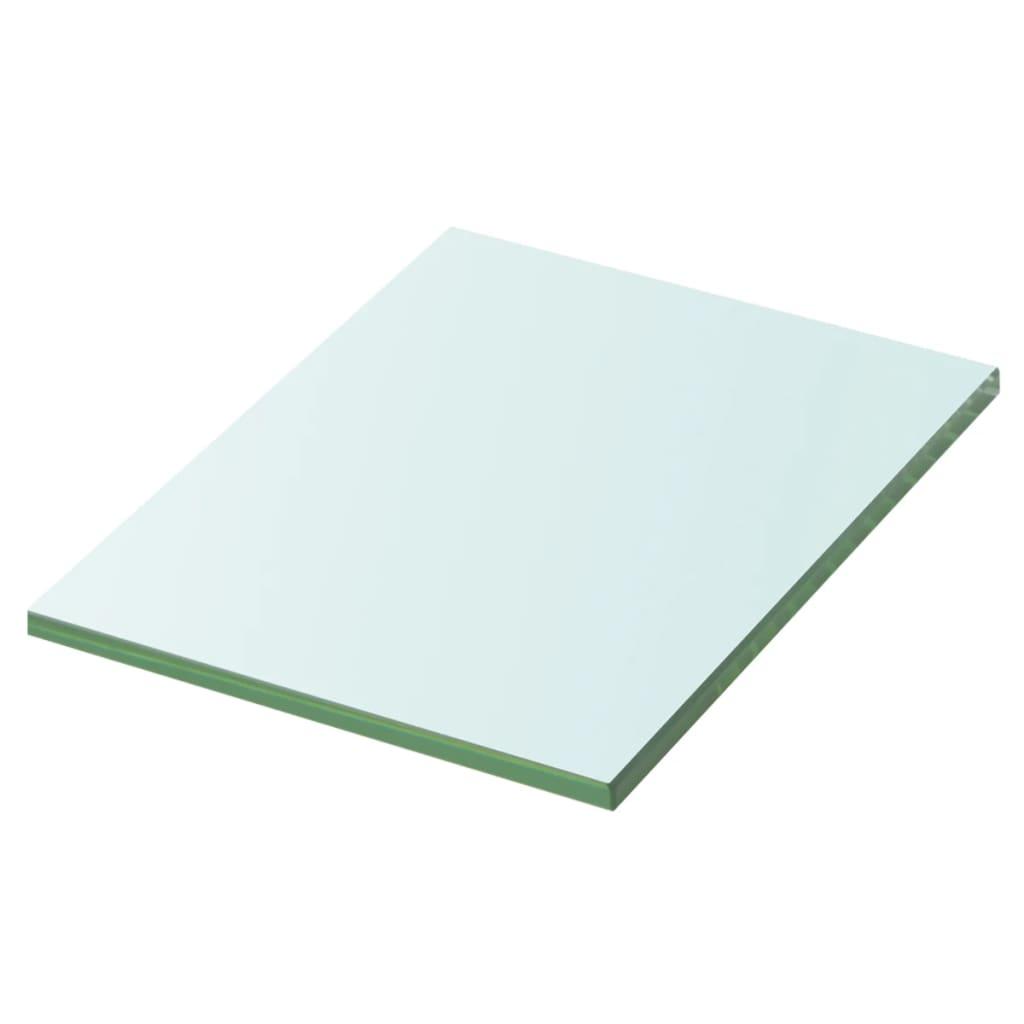 vidaXL 20x15 cm átlátszó panel üvegpolc