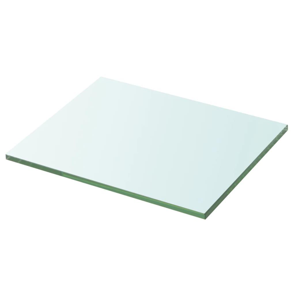 vidaXL 20x25 cm átlátszó panel üvegpolc