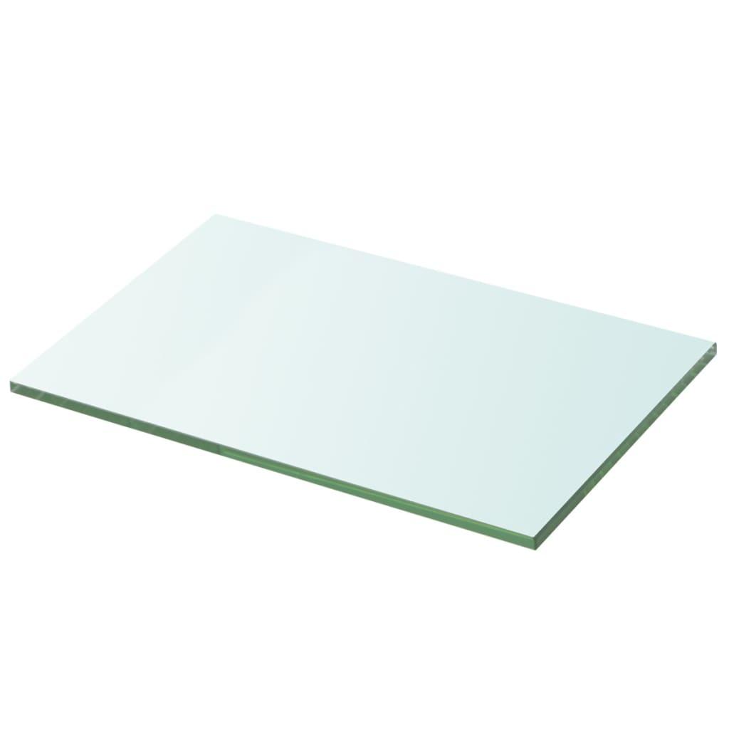vidaXL Átlátszó üvegpolc panel 20x30 cm