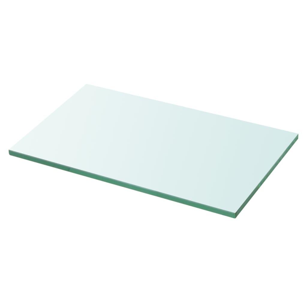 vidaXL 30x15 cm átlátszó panel üvegpolc