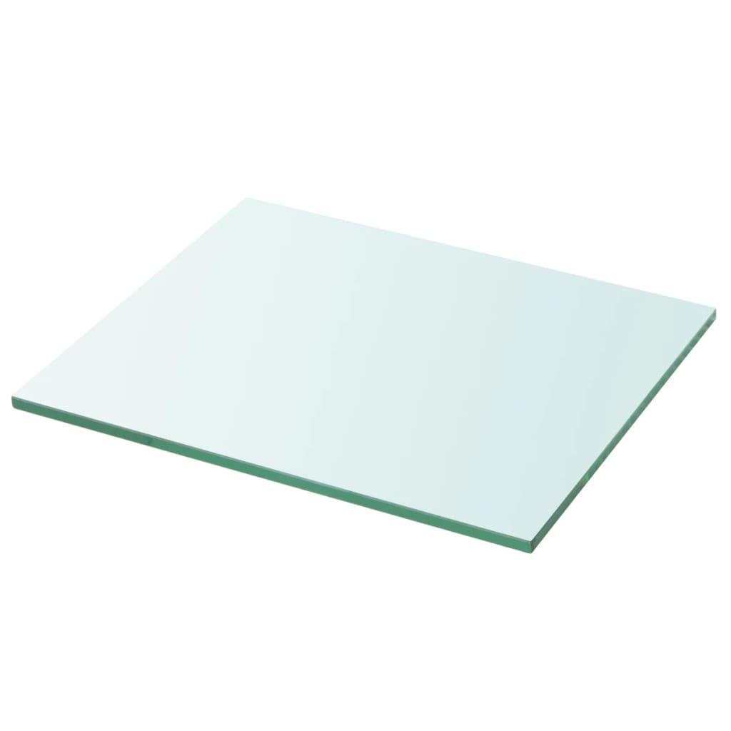 vidaxl panneau pour tag re verre transparent 30 x 25 cm. Black Bedroom Furniture Sets. Home Design Ideas
