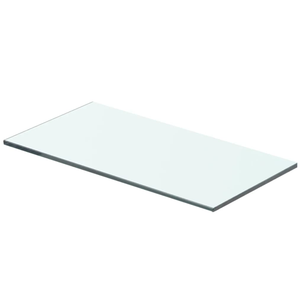 vidaXL 40x15 cm átlátszó panel üvegpolc