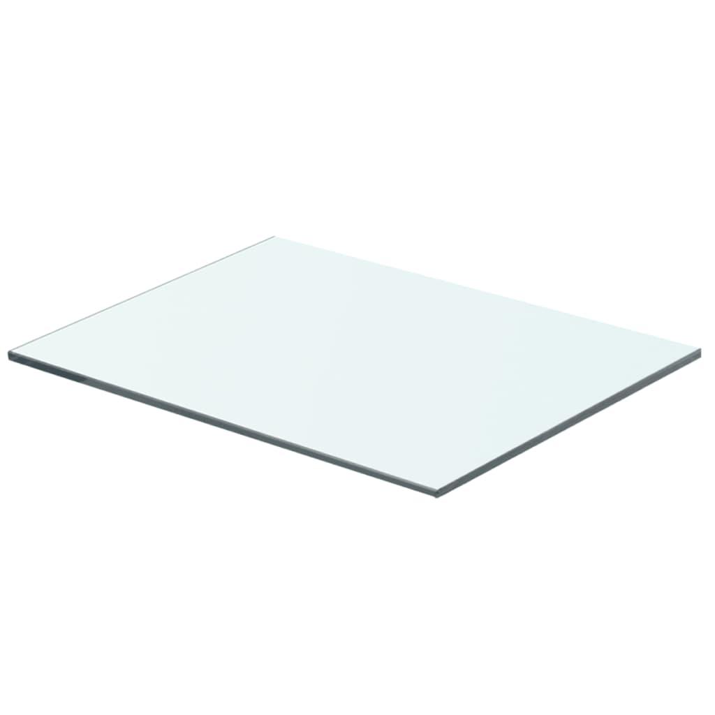 vidaXL 40x25 cm átlátszó panel üvegpolc
