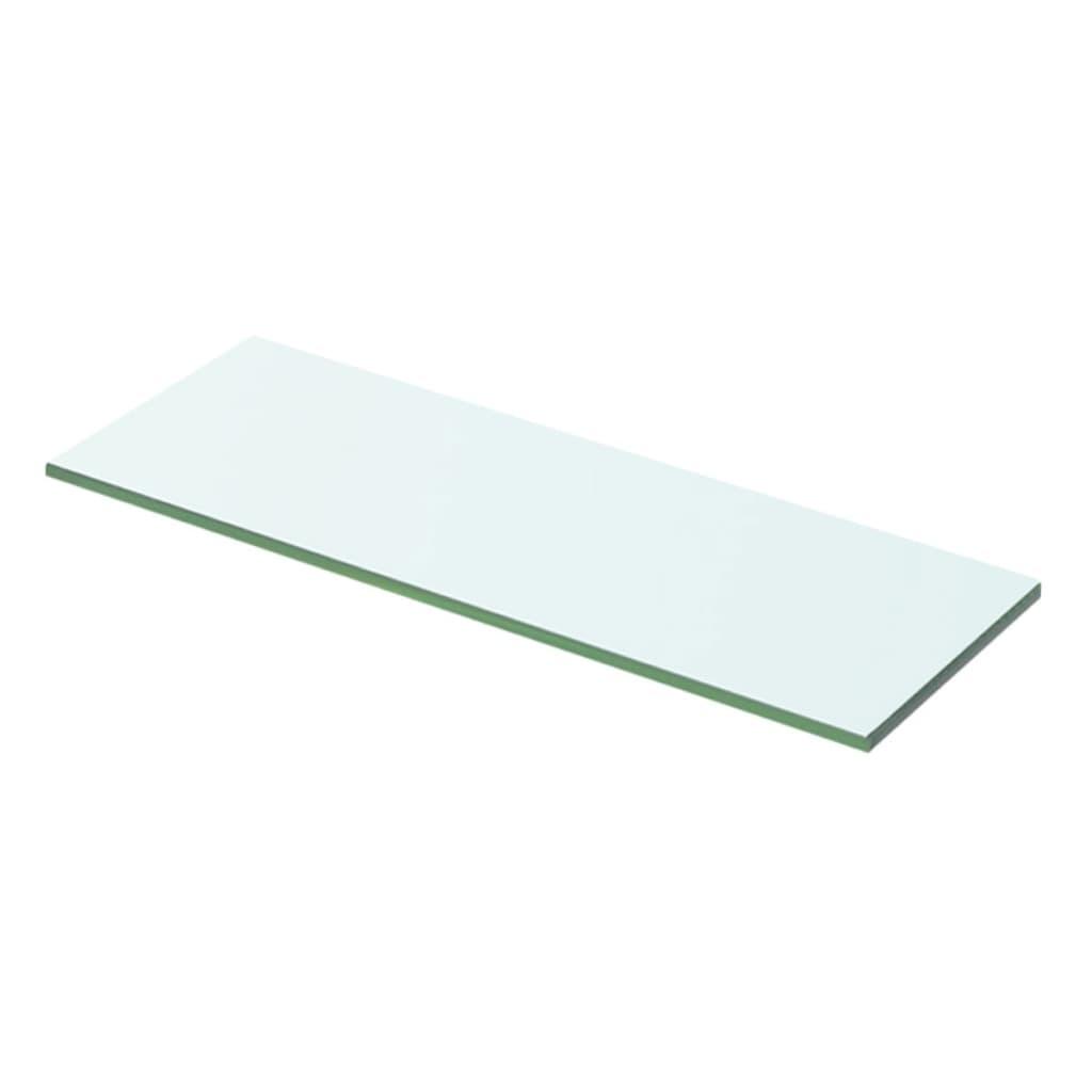 vidaXL 50x12 cm átlátszó panel üvegpolc