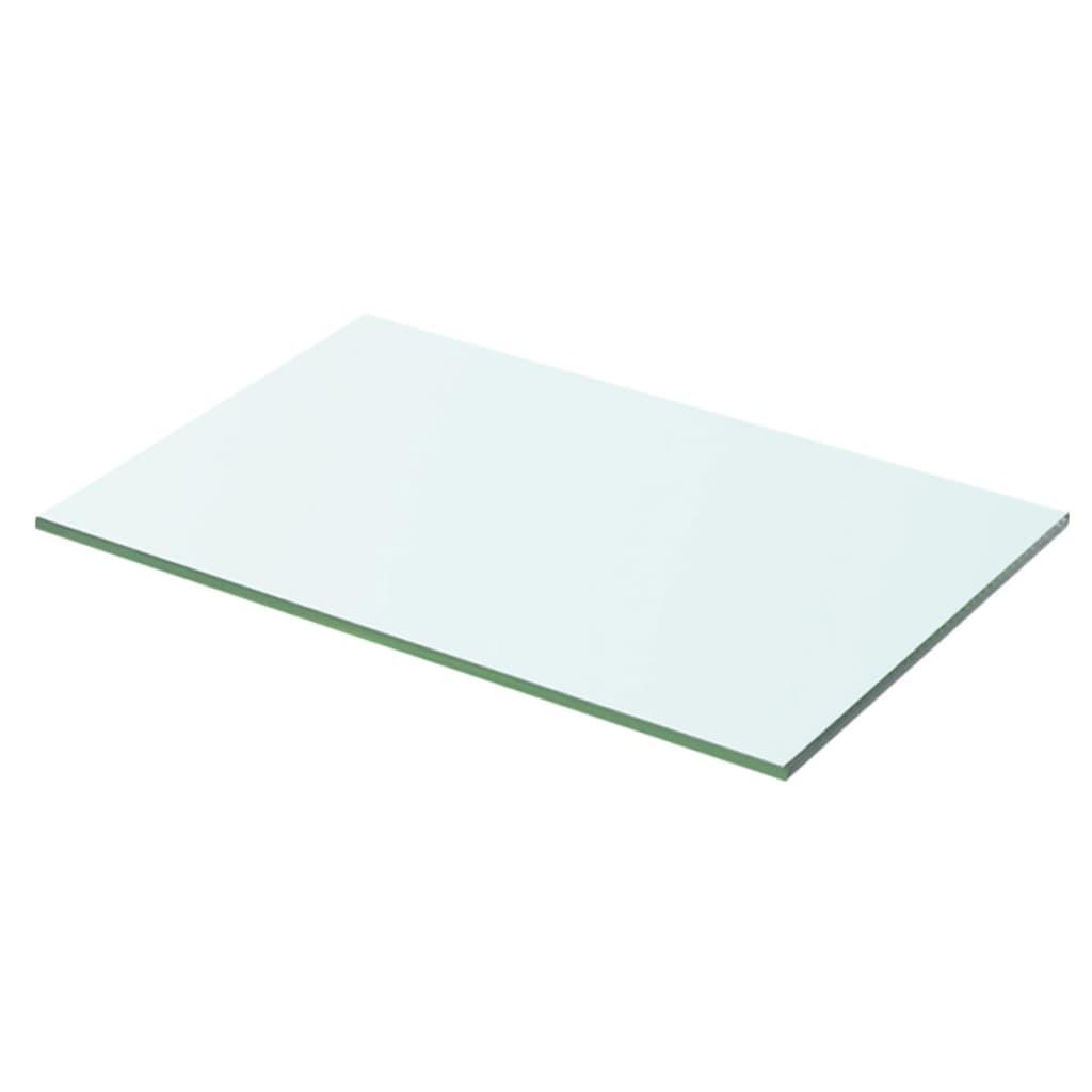 vidaXL 50x25 cm átlátszó panel üvegpolc