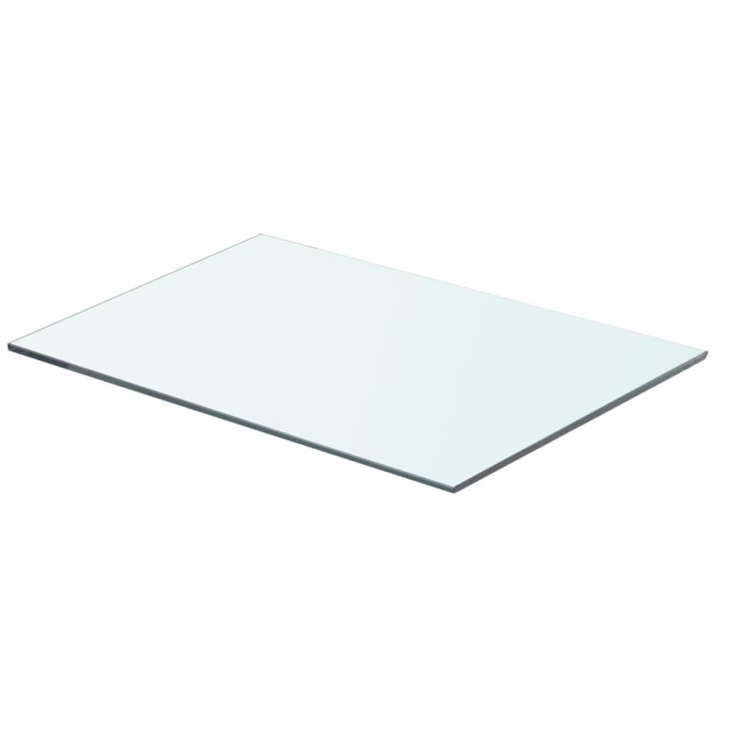 vidaXL Átlátszó üvegpolc panel 50x30 cm