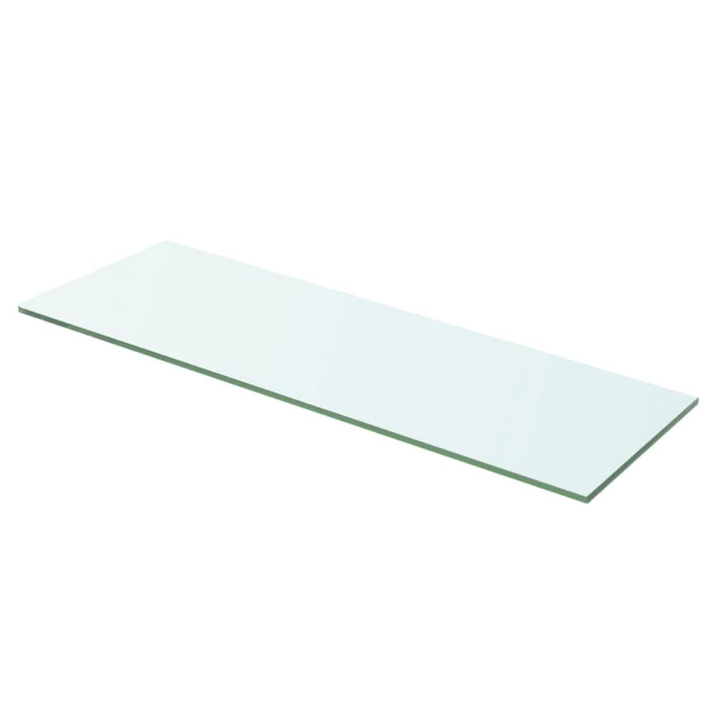 acheter vidaxl panneau d tag re verre transparent 60 x 15 cm pas cher. Black Bedroom Furniture Sets. Home Design Ideas