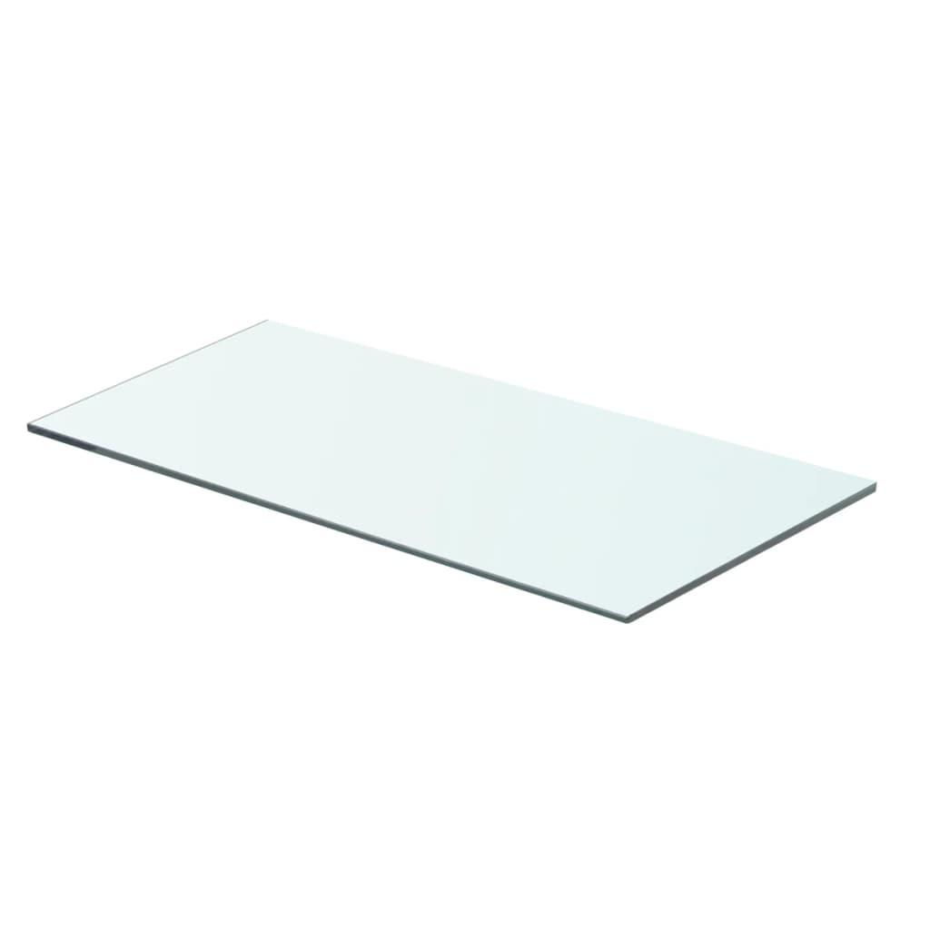 acheter vidaxl panneau pour tag re verre transparent 60 x 25 cm pas cher. Black Bedroom Furniture Sets. Home Design Ideas
