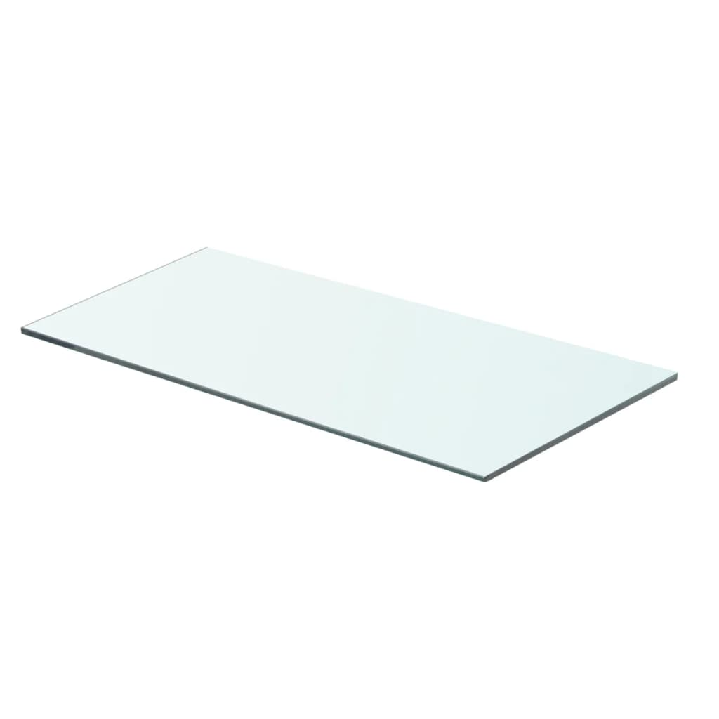 vidaXL 60x25 cm átlátszó panel üvegpolc