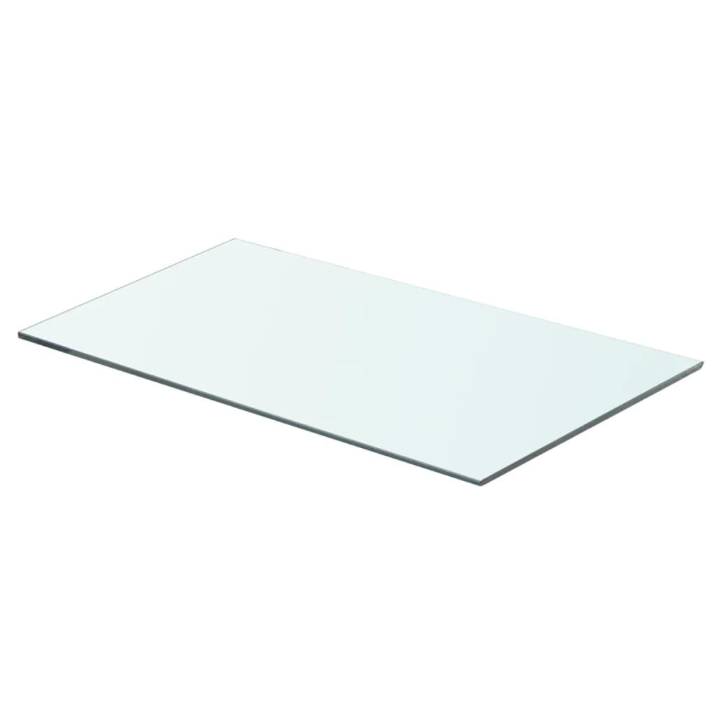 vidaXL Átlátszó üvegpolc 60x30 cm