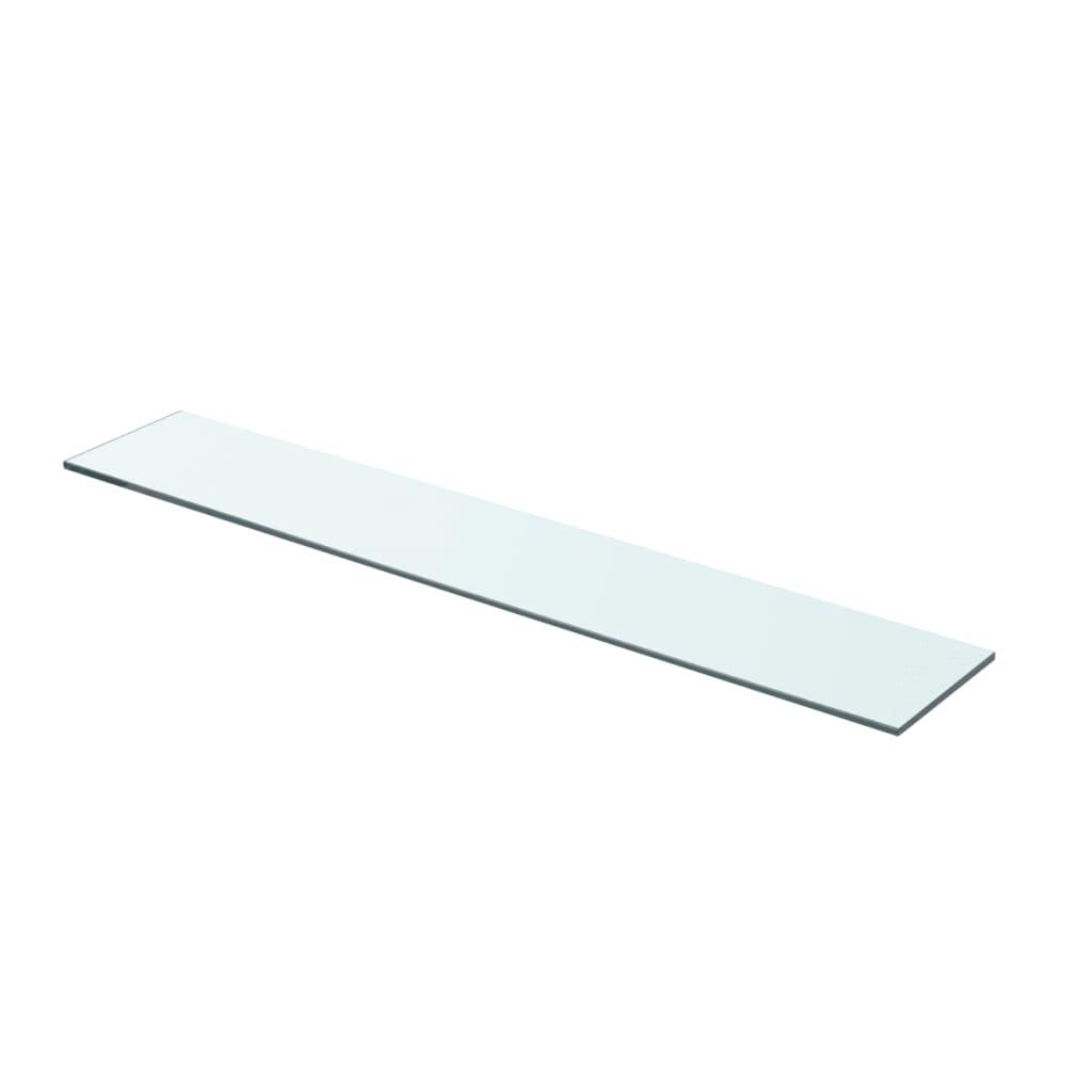 vidaXL 70x12 cm átlátszó panel üvegpolc