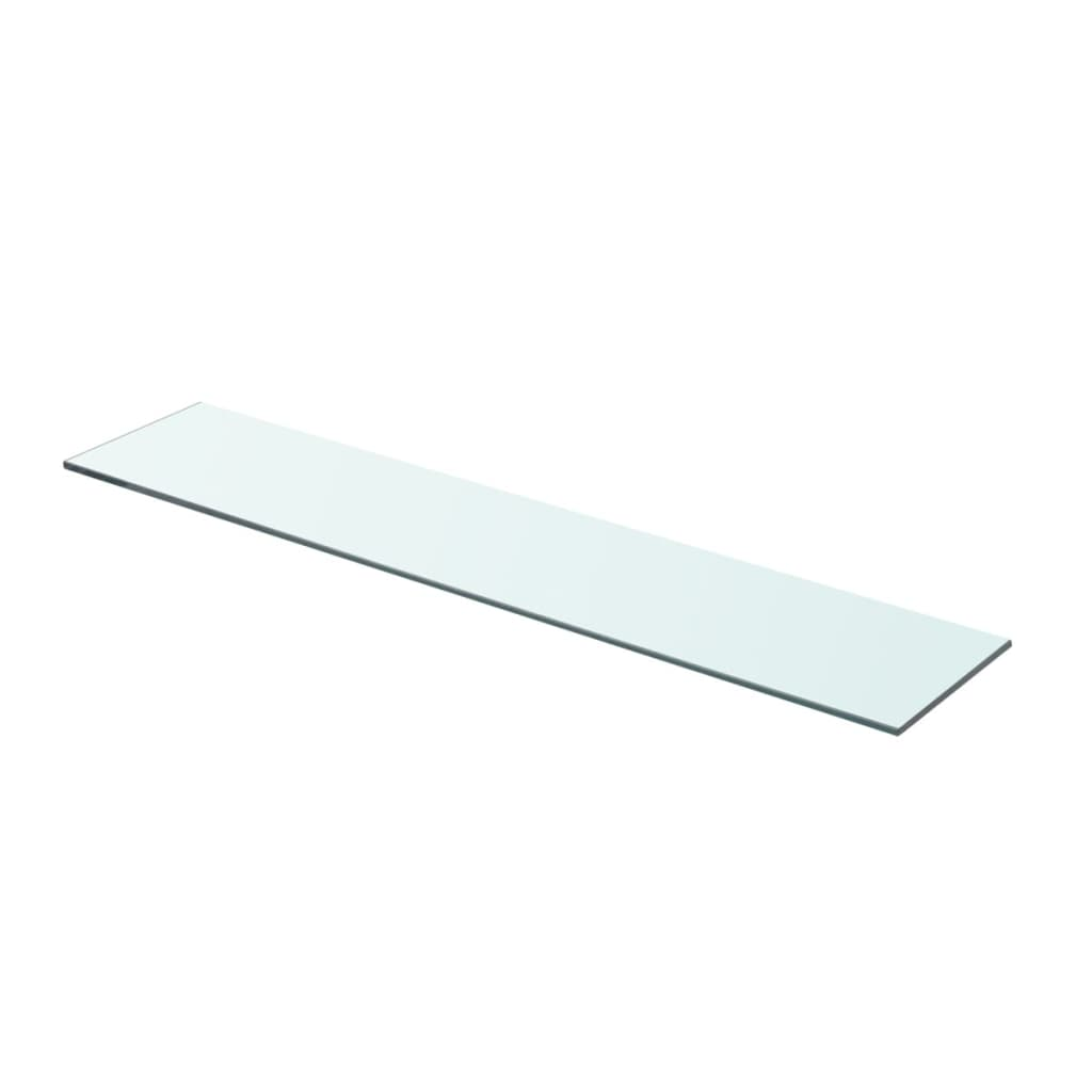 vidaXL 70x15 cm átlátszó panel üvegpolc