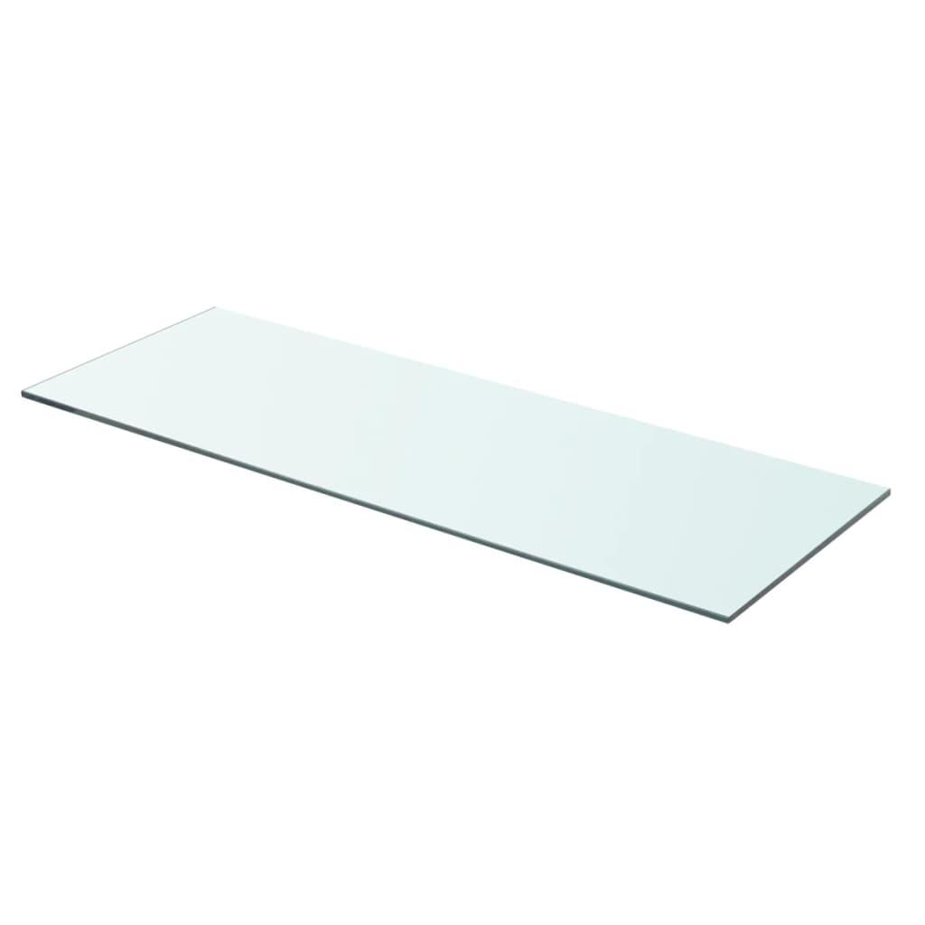 Acheter vidaxl panneau pour tag re verre transparent 70 x 25 cm pas cher - Etagere 70 cm ...