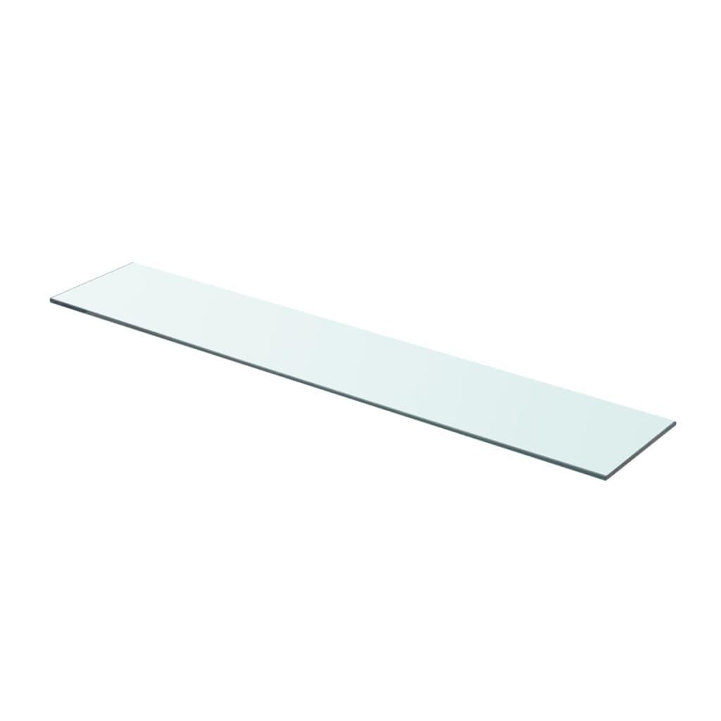 acheter vidaxl panneau pour tag re verre transparent 80 x 15 cm pas cher. Black Bedroom Furniture Sets. Home Design Ideas
