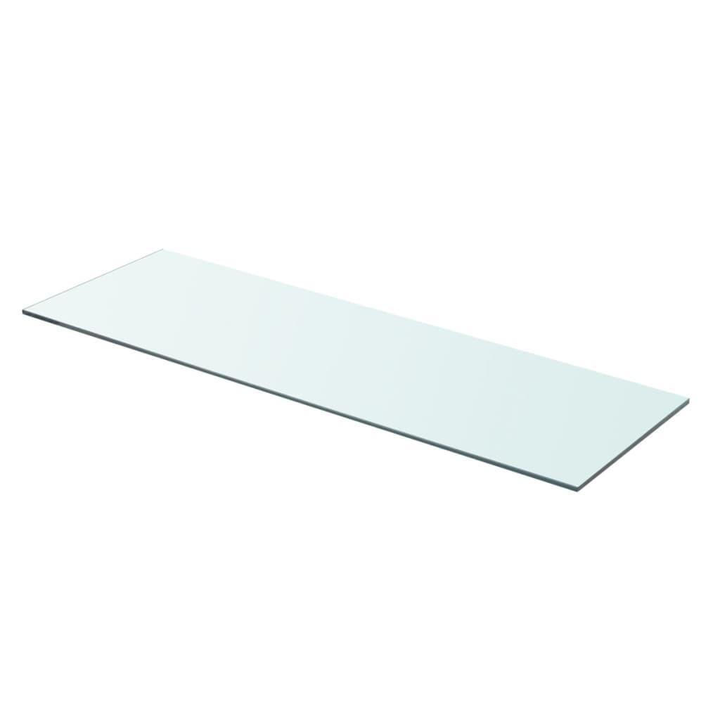 vidaxl panneau pour tag re verre transparent 80 x 25 cm. Black Bedroom Furniture Sets. Home Design Ideas