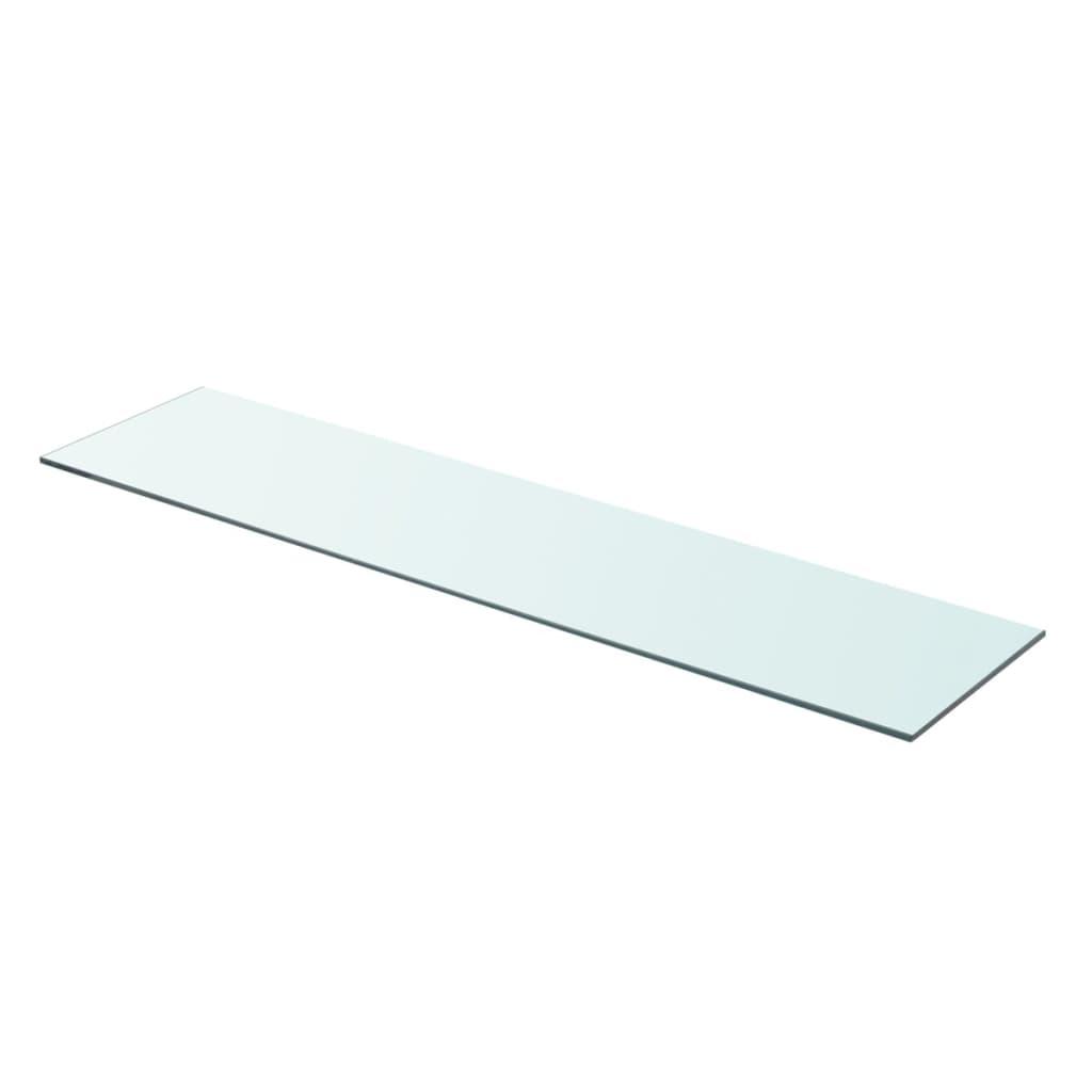 vidaXL 90x20 cm átlátszó panel üvegpolc