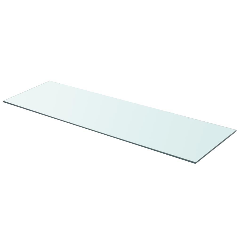 vidaXL 90x30 cm átlátszó panel üvegpolc