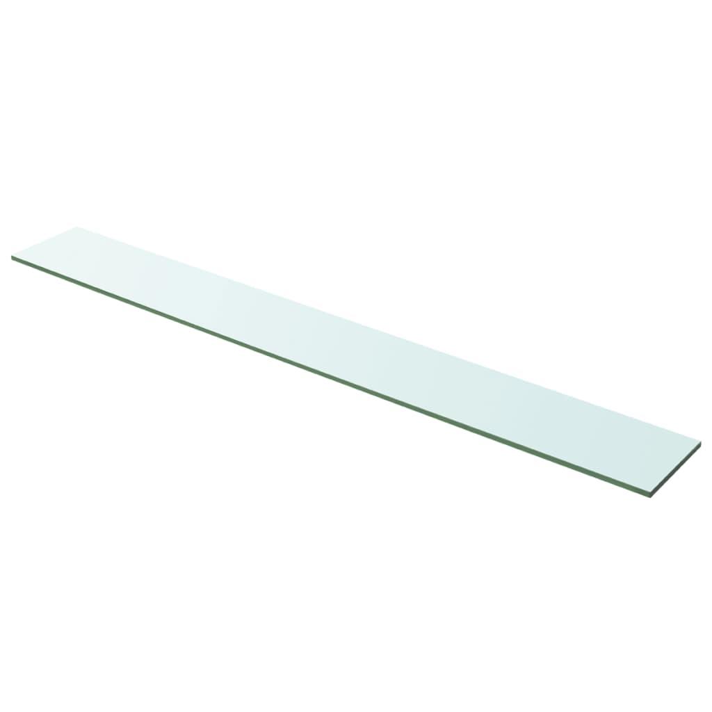 vidaXL 100x12 cm átlátszó panel üvegpolc
