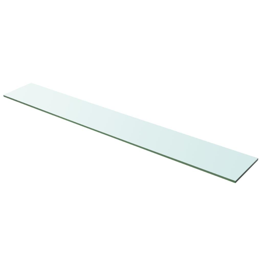 acheter vidaxl panneau pour tag re verre transparent 100 x 15 cm pas cher. Black Bedroom Furniture Sets. Home Design Ideas