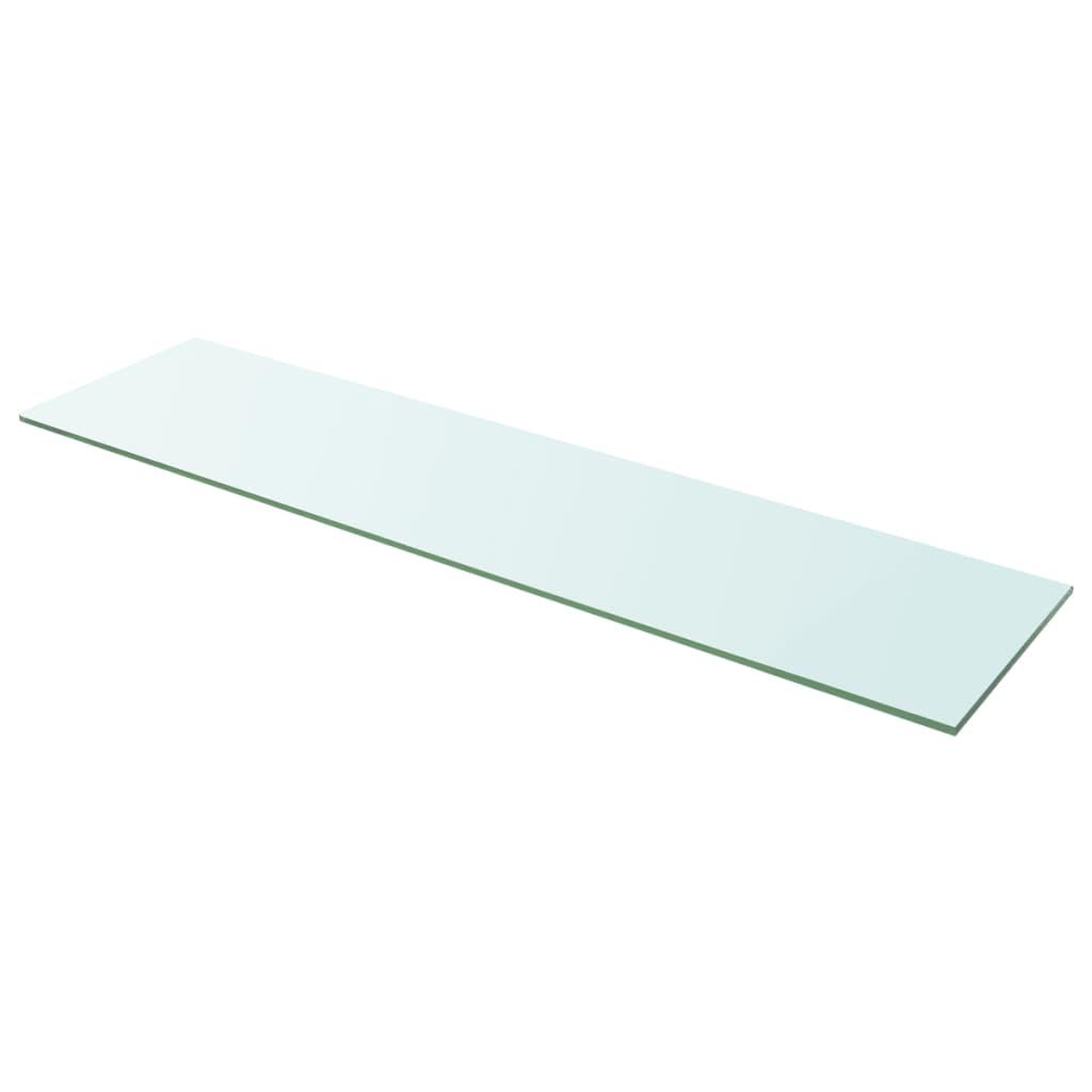 vidaXL 100x25 cm átlátszó panel üvegpolc