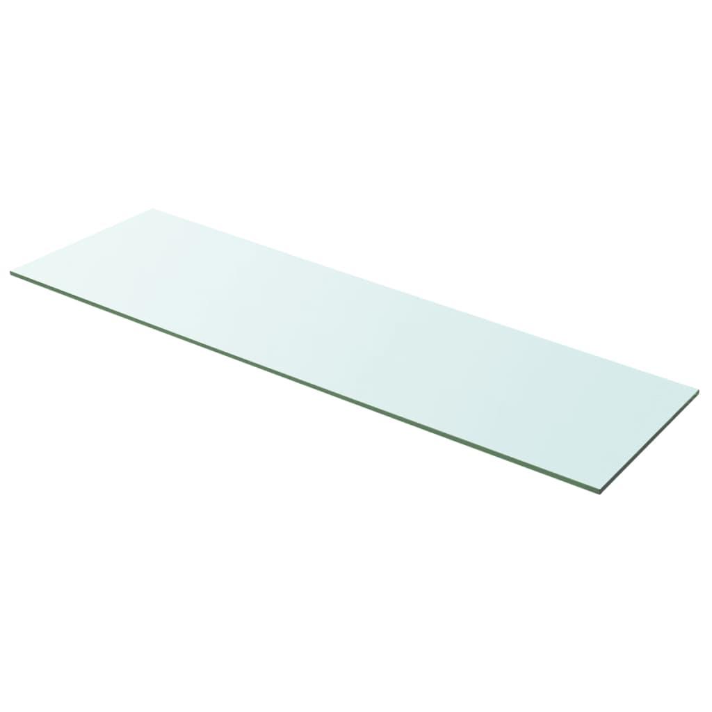 vidaXL 100x30 cm átlátszó panel üvegpolc