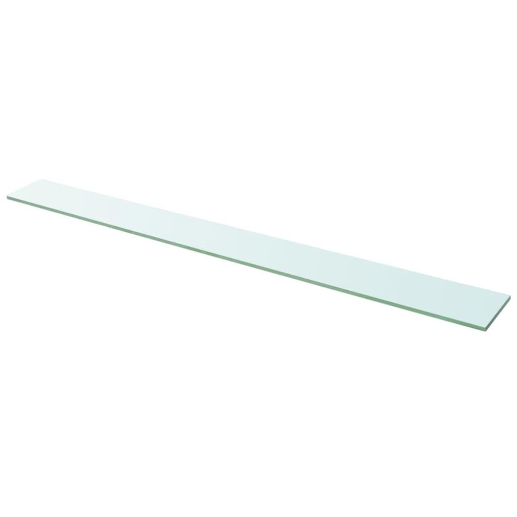 vidaXL 110x12 cm átlátszó panel üvegpolc