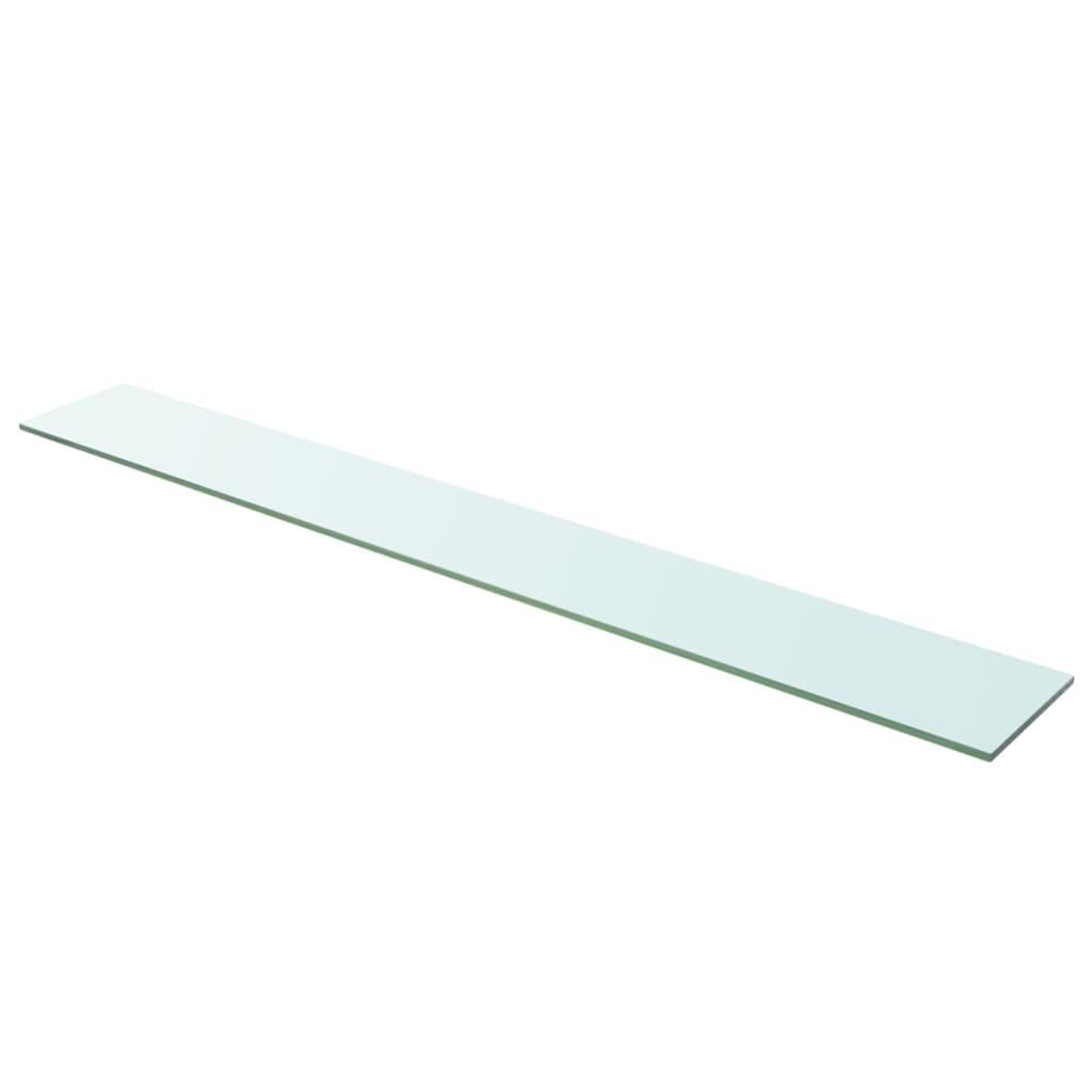 vidaXL 110x15 cm átlátszó panel üvegpolc