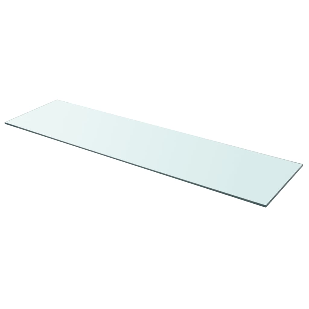 vidaXL 110x30 cm átlátszó panel üvegpolc