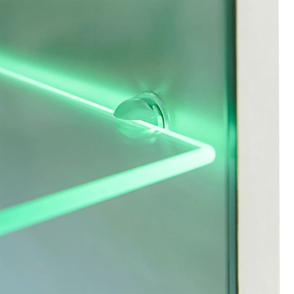 vidaXL-Mueble-de-5-Piezas-con-Iluminacion-LED-Blanco-Mueble-TV-Vitrina-Armario