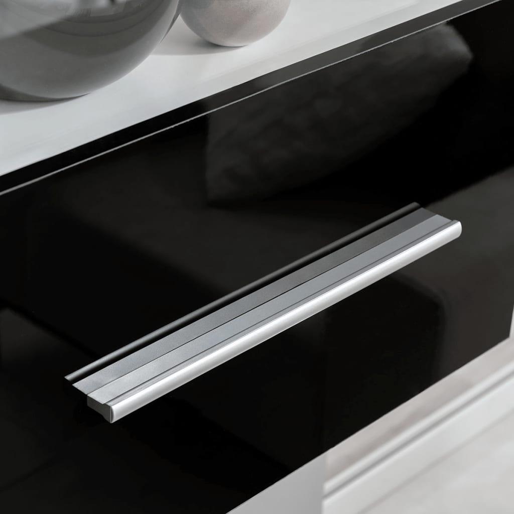 acheter vidaxl meuble tv mural 5 pi ces avec clairage led noir pas cher. Black Bedroom Furniture Sets. Home Design Ideas